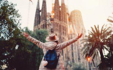 Tourist enjoying Barcelona